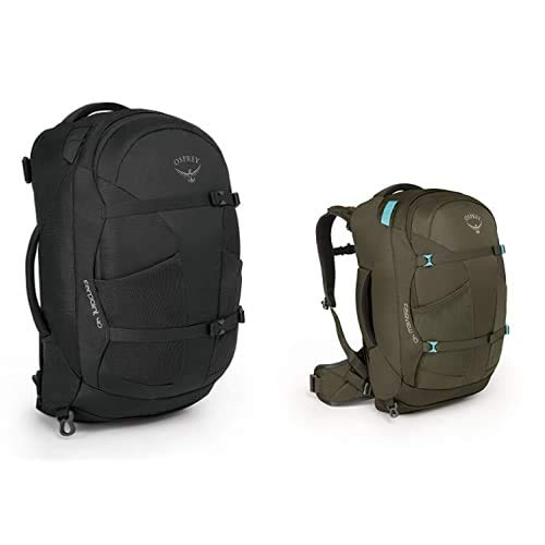 Osprey Farpoint 40 Men's Travel Pack - Volcanic Grey (S/M) + Fairview 40 Women's Travel Pack - Misty Grey (WS/WM)