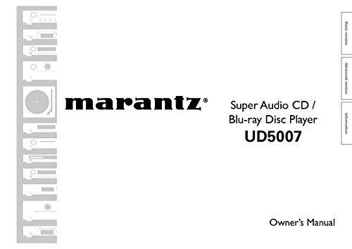 Marantz UD5007 Blu-Ray Player Owners Instruction Manual Reprint [Plastic Comb]