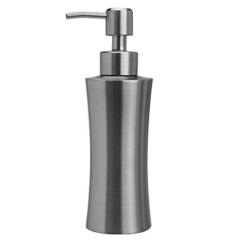 ZY Dosatori per Sapone Liquido Dispenser per Sapone in Acciaio Inox Satinato, 220ml, 250ml, 400ml (capacità : 400ML)