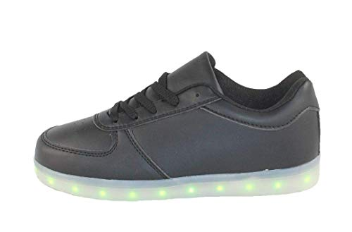 ATS Unisex LED Shoes Breathable Sneakers Light up Shoes,xLG-5101,11 Black