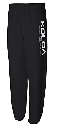 Koloa Surf Co(tm) Logo Sweatpants in Black/White Logo