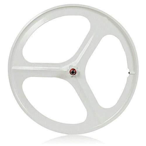 TYXTYX Rueda de Bicicleta, Ruedas de Engranaje Fijo 700C, 26'MTB Bike mag Wheel Set Llanta de 3 Radios Rueda de Bicicleta Fixie Delantera Trasera de Una Velocidad Rueda de Pista Rueda de Bicicleta