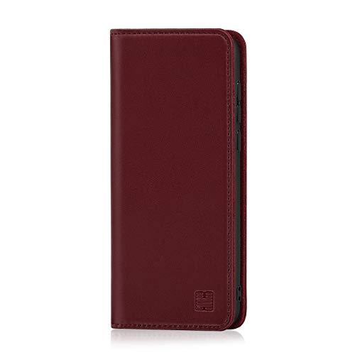32nd Klassische Series - Lederhülle Case Cover für Huawei Honor Play, Echtleder Hülle Entwurf gemacht Mit Kartensteckplatz, Magnetisch & Standfuß - Burg&er