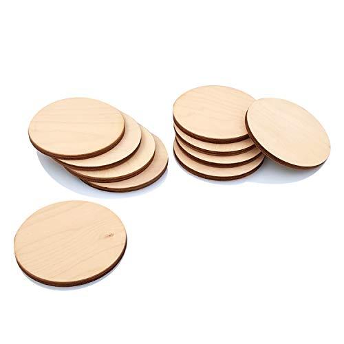 Primolegno 10x Cerchi 8 cm Legno Sagome tonde Decorazioni +Spessore 5 mm! Il Top