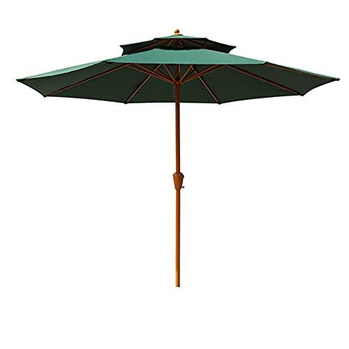 2 Niveles Market Umbrella Sombrilla De Patio Sombrilla De Mesa Al Aire Libre, 8.7 Pies Sombrilla De Patio Sombrilla De Mesa Al Aire Libre, Paraguas De Protección UV, Lo Mejor Para Terraza, Balcón
