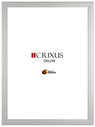 CRIXUS `Deluxe´ Bilderrahmen für 40 cm x 120 cm Bilder, Farbe: Silber matt, mit Acrylglas Kunstglas 1mm (Bruchsicher), Rahmenbreite 38 mm