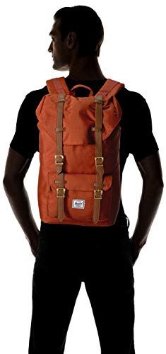 Herschel Unisex-Adult Little America Mid-Volume Laptop Backpack, Red Picante Crosshatch, 17.0L