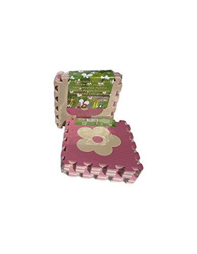 meiqicool Alfombrillas para Puzzles | Alfombra Puzzle para Niños Bebe Infantil Suelo de Goma EVA Suave 142 x 142 cm 25 Piezas Blanco Gris