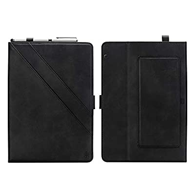 JCTek Huawei MediaPad T5 10 Case, Auto Wake & Sleep Leather Case, Two Stand Function with Pen Holder Document Card Pocket for Huawei Mediapad T5 10 10.1 Inch Tablet 2018 (Black)