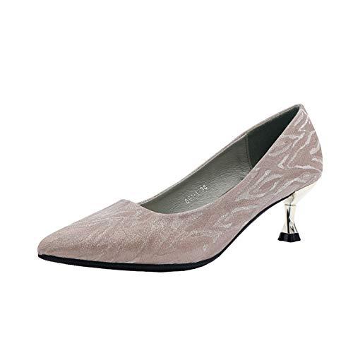 Zapatos de tacón Alto de tacón Fino para Mujer, Zapatos de tacón con Punta Cerrada para Primavera y otoño, Vestido de Noche, Elegantes Zapatos de Corte Puntiagudos