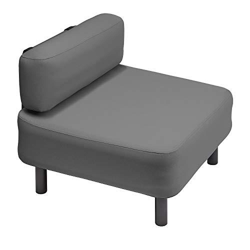 OneBar Element 2 Sessel Aufblasmöbel, Just add air, Mobile Lounge, Luft, Sofa, Couch, Sessel, Outdoor, Garten, Luftpolster, Onebar Farbe:Dark Grey