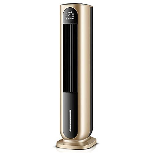 LTLJX Ventilador de Torre con Función de Purificación y Humidificación, Calor y 3 Modo Ventilador de Aire Frío, Protección contra Sobrecalentamiento y Volcado, para Oficina Hogar,Oro