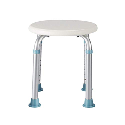 Home Shower Stool Height Adjustable Shower Chair Non Slip Bathroom Seat Suitable for Pregnant Women Foldable