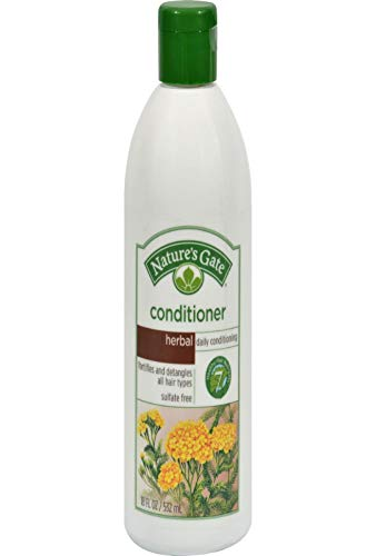 Nature's Gate Natural Herbal Daily Cleansing Conditioner with Jojoba Oil for Normal Hair, Vegan, Non...