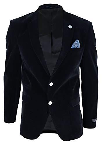 TruClothing.com Chaqueta de terciopelo negro para hombre. Ideal fiestas o bodas. - 52EU