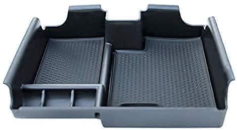 Coche Apoyabrazos caja de almacenamiento para Land Range Rover Evoque 2009-2013, organizador con alfombrilla antideslizante interior