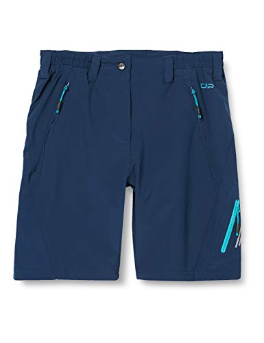 CMP Damen Stretch Bermuda Shorts with Button, Blue, D44