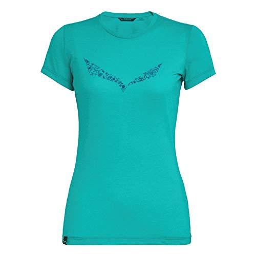 Salewa Solid Dry W S/Tee Femme Feldspar Green Mel FR: 4XL (Taille Fabricant: 48/42)