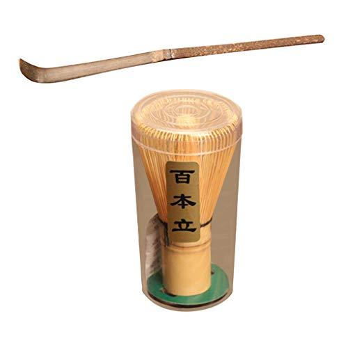 HomeDecTime Bambus Bambusbesen Matcha Tee Bambus Chasen Bambuslöffel Matchalöffel Teelöffel