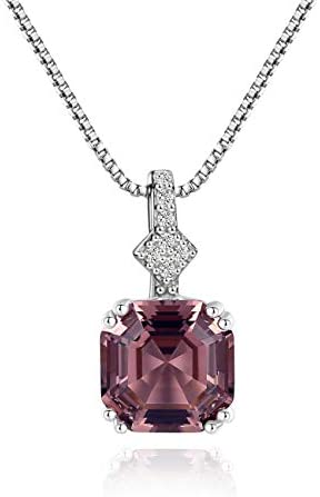 Mints 2ct Morganite Asscher Cut Pendant Necklace Sterling Silver Gemstone Fine Jewelry for Women product image
