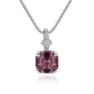 Mints 2ct Morganite Asscher Cut Pendant Necklace Sterling Silver Gemstone Fine Jewelry for Women