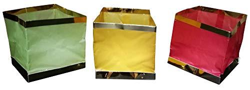 GW Handels UG 10 Stück Wasserlaterne Schwimmlaterne Schwimmkerzen Lampion Laterne Teelicht Kerze Windlicht Bunt Schwimmlicht Outdoor Deko