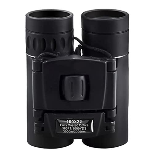 VDSOIUTYHFV Jumelles 100x22 pour Adultes, Jumelles HD Professionnelles étanches antibuée, lentille Prisme FMC BAK4 Durable et Transparente