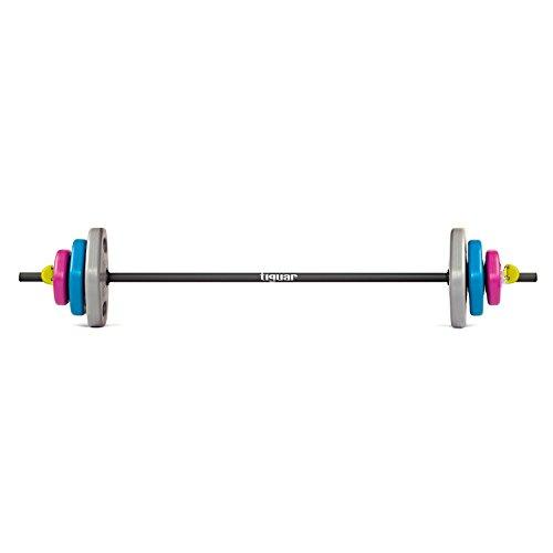 tiguar powergym lungo set di manubri 18.6kg 2halteklammern Kraft Training