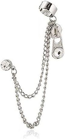 Ear Cuff Punk Cross Chain Earrings Gothic Long Tassel Jewelry Clip Stud