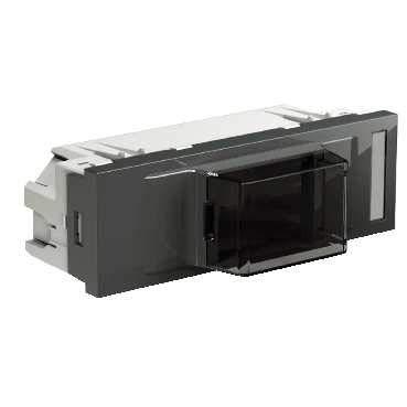 Schneider INS68105 inbouwdoos DIN-apparaat grijs voor 50 mm frontopening