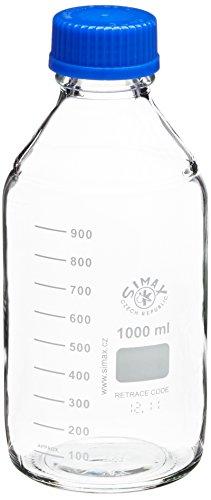 Neolab laboratorio e 143245, ISO filo anello beccuccio e tappo, 1000ml Bottiglia (confezione da 10)