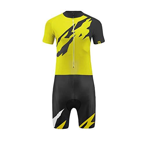 Uglyfrog Triathlon Einteiler Herren | FX Trisuit | Wettkampf | Frontreißverschluss | Kurzarm/Langer Schaft Oberteil+Kurze Beine mit Gelkissen