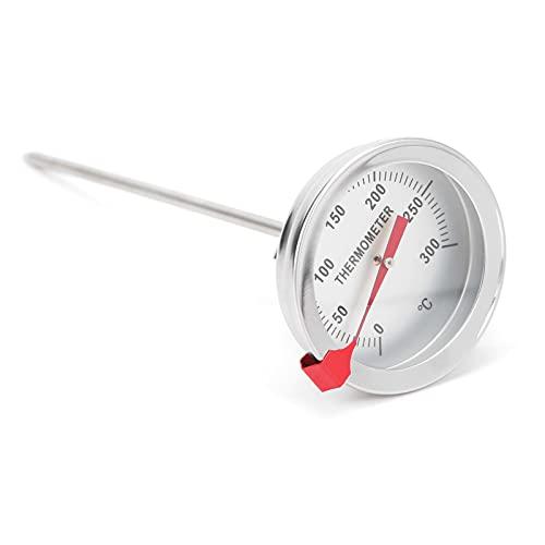 Termometro per coppa dell'olio, termometro per olio a induzione meccanica a stelo lungo resistente alle alte temperature Termometro da cucina per friggere e grigliare in padella(30 cm)