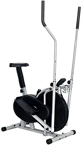 JSL Máquina elíptica Cross Training Machine Home Fitness Vehículo Fan Bike Stepper con asiento Inicio Interior Deportes Equipo