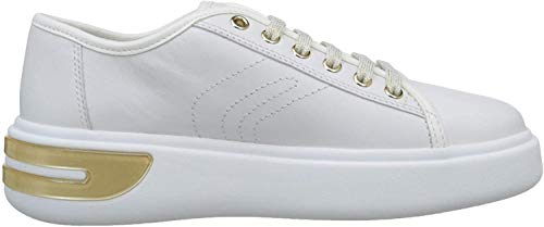 Geox Damen D OTTAYA A Sneaker, Weiß (White C1000), 39 EU