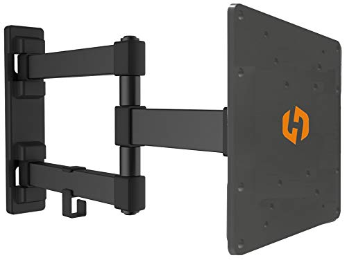 Husky Mounts Full Motion Wall Mount Bracket & Arm, Fits Most 17' - 32' Flat Screens, Swivels Right Left 180 Degrees, Adjustable Tilt, One Person Installation, Hardware Included