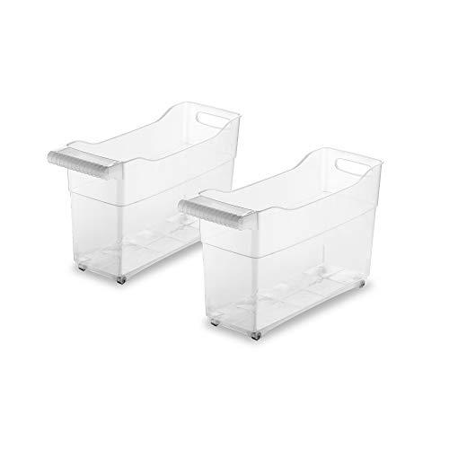 USE family Trolley. Organizador de armarios de cocina -Especial almacenaje productos de limpieza - Pack de 2- Fabricado con material reciclable