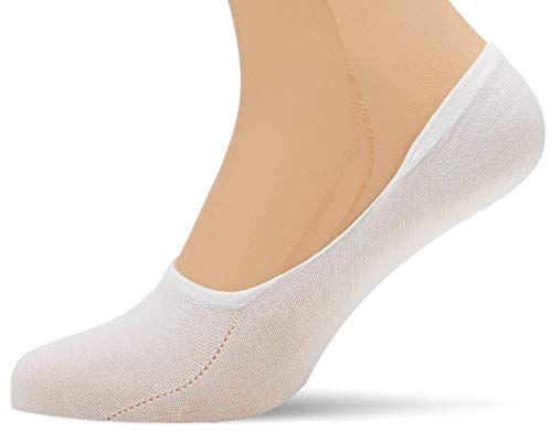 Hudson Herren Füßlinge, 004851 Sneaker Footlet, Gr. 39/42, Weiß (White 0008)