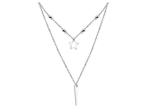 SOFIA MILANI - Collar para Mujeres en Plata de Ley 925 - Colgante de Bolas Estrellas Barra - 50313