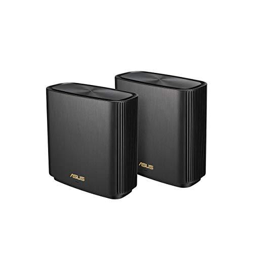 ASUS ZENWIFI AX6600 TRI-BAND MESH WIFI 6 SISTEMA (XT8 2PK) - Cobertura de la casa completa de hasta 5500 pies cuadrados y más de 6 habitaciones, Aimesh, Incluida Seguridad de Internet de por vida, Configuración fácil, 3 SSID, control parental, carbón
