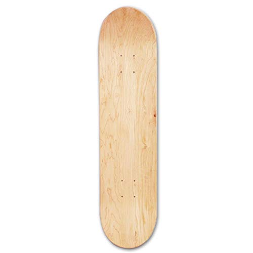 Skateboards Deck, 8-lagiges Maple Blank Double Concave Skateboards Natürliches Skateboard Deck Skateboards Deck Wood Maple, 8inch