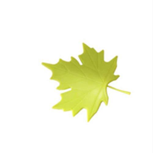 Heng praktische jongen creatieve esdoornblad vorm vinger veiligheidsdeurstopper stopt beschermer wigdeurvanger blok woondecoratie, groen