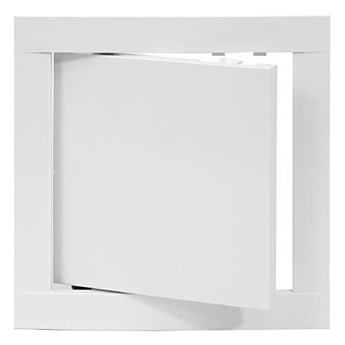 200x200 mm Revisionsklappe Weiß Revisionstür Wartungstür Inspektionsklappe aus Kunststoff 20x20 cm