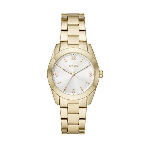 DKNY Nolita NY2873 - Reloj de cuarzo para mujer, acero inoxidable, color dorado