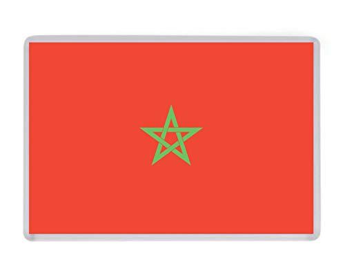 Print City Kühlschrankmagnet, Marokko-Flagge, für Geburtstag, Weihnachten, WM, Fußball, FIFA, Jahrestag, Ehemann, Ehefrau, Freund, Freundin, Geschenk