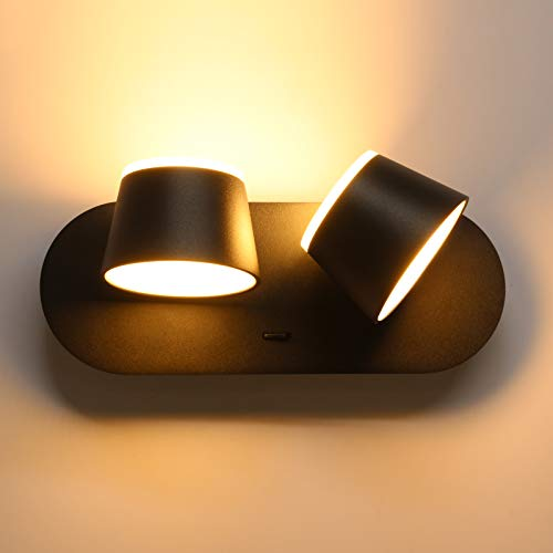 Wowatt Aplique Pared Interior Con Interruptor LED Lámpara de Pared Decorativa 12W...