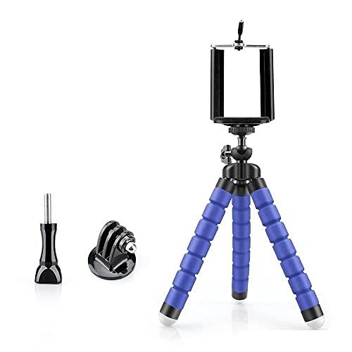 Fuquíbandian Mini Flexible Esponja Pulpo del trípode de cámara del iPhone Compatible con Samsung Xiaomi Huawei teléfono móvil Inteligente for GoPro VP414C Accesorios de Soporte (Color : VP414C Blue)