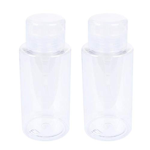 Minkissy 2 Pcs Vide Pompe Distributeur Bouteilles Deau Vernis à Ongles Dissolvant Bouteille Push Down Bouteille Maquillage Démaquillant Bouteille 300 ML