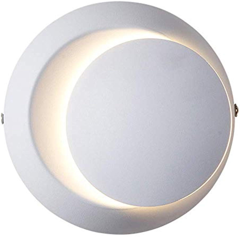 ● Moderne LED-Wandleuchten 360 & Grad; Rotations-justierbare Wandleuchte-Lampe kreatives Metallschmiedeeisen-rundes jagen Mondgang-Wand-Unterlegscheibe für Wohnzimmer Schlafzimmer-Nachttischlampen-Tre
