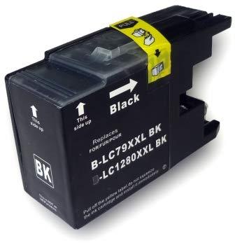 BEINK Compatible para Brother LC1280XL Negro Cartucho de Tinta Generico - Reemplaza LC1280XLBK